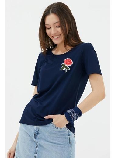 Sementa Sırtı Çapraz Bantlı Tshirt - Lacivert Lacivert